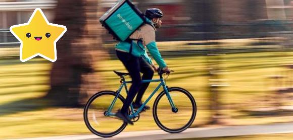 reparto de mercancía en bicicleta